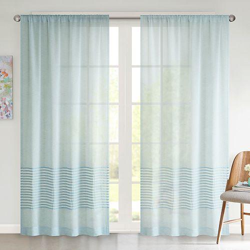 Urban Habitat 1-Panel Rae Dobby Stripe Sheer Window Curtain