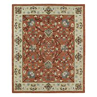 Kaleen Brooklyn Omni Framed Floral Wool Rug