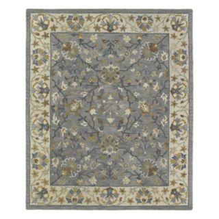 Kaleen Brooklyn Omni Framed Floral Wool Rug