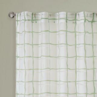 Urban Habitat Cyrus Geometric Burnout Sheer Window Curtain
