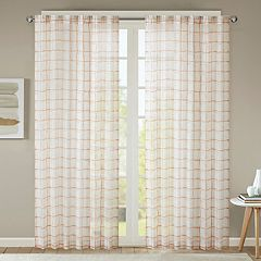 Urban Habitat Cyrus Geometric Burnout Sheer Window Curtain