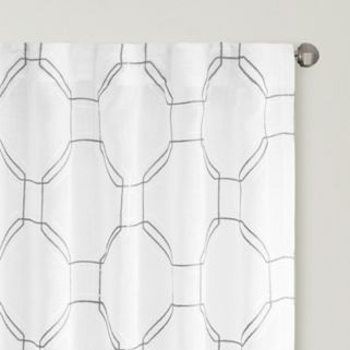 Urban Habitat Austin Embroidered Faux Linen Sheer Window Curtain