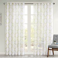 Urban Habitat Austin Embroidered Faux Linen Sheer Window Curtain