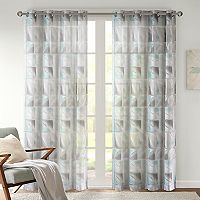 Urban Habitat Nash Geometric Burnout Sheer Window Curtain