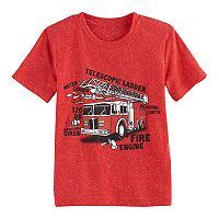 Toddler Boy Jumping Beans® Firetruck Diagram Graphic Tee