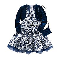 Girls 4-6x Knitworks Filigree Skater Dress, Shrug & Purse Set