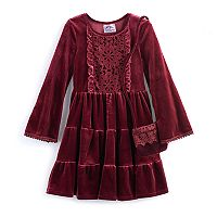 Girls 4-6x Knitworks Tiered Velvet Dress