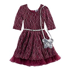 Girls 4-6x Knitworks Lace Dress & Purse Set