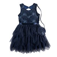 Girls 4-6x Knitworks Rose Embossed Dress