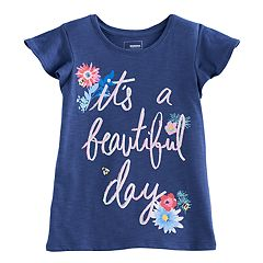 Girls 4-12 SONOMA Goods For Life™ Ruffle Sleeve Printed Tee
