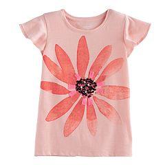Girls 4-12 SONOMA Goods For Life™ Ruffle Sleeve Printed Tee