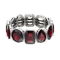 Simply Vera Vera Wang Red Geometric Stone Stretch Bracelet