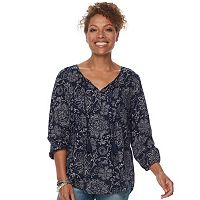 Women's SONOMA Goods for Life™ Printed Peasant Top