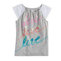 Girls 4-12 SONOMA Goods For Life™ Eyelet Sleeve Top