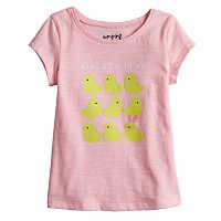 Baby Girl Jumping Beans® Heart Slubbed Graphic Tee