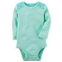 Baby Girl Carter's Striped Lace Bodysuit
