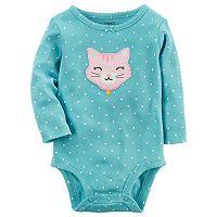 Baby Girl Carter's Polka-Dot Animal Bodysuit
