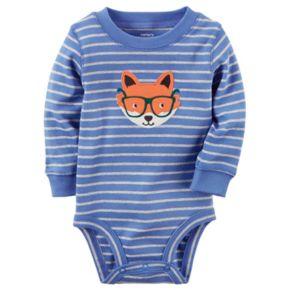 Baby Boy Carter's Striped Animal Bodysuit