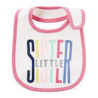 Baby Girl Carter's Printed Slogan Teething Bib
