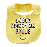 Baby Girl Carter's Printed Family Slogan Teething Bib