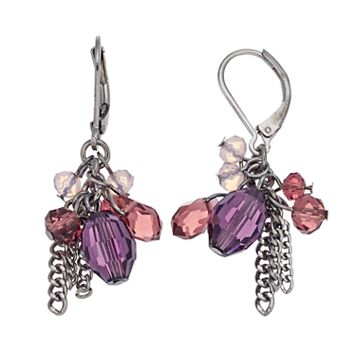 Simply Vera Vera Wang Purple Ombre Beaded Chain Fringe Nickel Free Drop Earrings