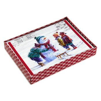 Hallmark 16-Count Snowman & Kids Boxed Holiday Cards
