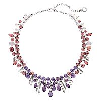 Simply Vera Vera Wang Purple Ombre Shaky Bead Necklace