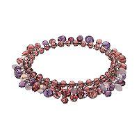 Simply Vera Vera Wang Purple Ombre Shaky Bead Coil Bracelet