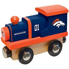 Denver Broncos Baby Wooden Train Toy