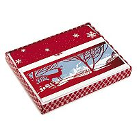Hallmark 16-Count Outdoor Scene with 2 Deer Boxed Holiday Cards