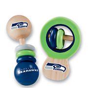 Seattle Seahawks Baby Rattle Set