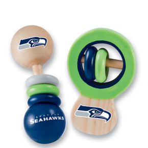 Seattle Seahawks Baby Rattle Set