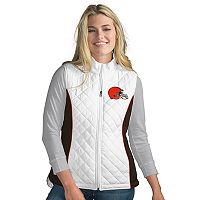 Women's Cleveland Browns Tackle Me Quilted Vest
