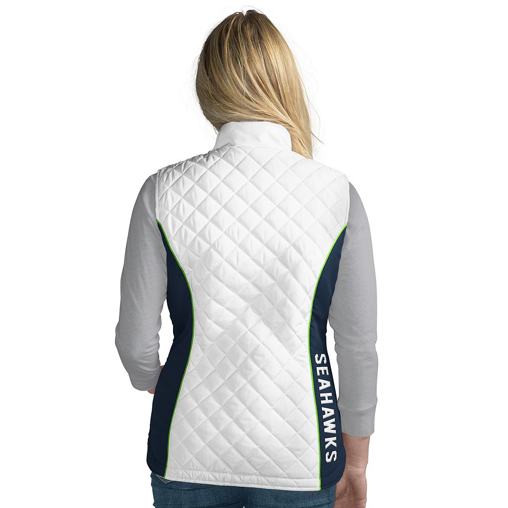 Women's Seattle Seahawks Tackle Me Quilted Vest