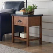 SONOMA Goods for Life? Preston Wood & Metal End Table