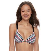 Striped Push-Up Bikini Top