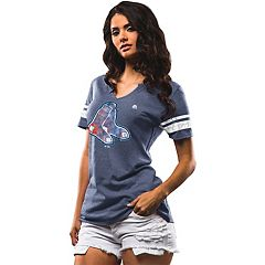 Women's Majestic Boston Red Sox Slugging Percentage Tee