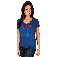 Women's Majestic Chicago Cubs Got Him Chasing Tee