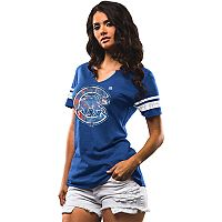 Women's Majestic Chicago Cubs Slugging Percentage Tee