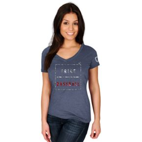 Women's Majestic Cleveland Indians Cut Off Tee