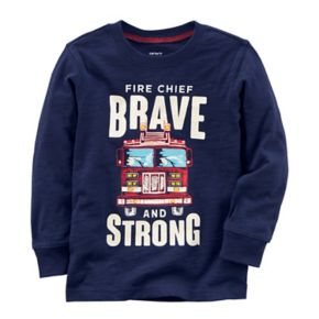"Toddler Boy Carter's ""Fire Chief Brave and Strong"" Tee"