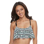 Mix and Match Racerback Flounce Bikini Top