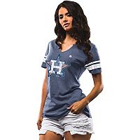 Women's Majestic Houston Astros Slugging Percentage Tee