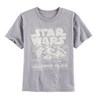 Boys 8-20 Star Wars: Episode VIII The Last Jedi Millennium Falcon Schematic Tee