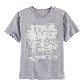 Boys 8-20 Star Wars: Episode VIII The Last Jedi Millennium Falcon Schematic Tee