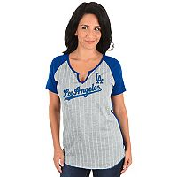 Women's Majestic Los Angeles Dodgers From the Stretch Tee