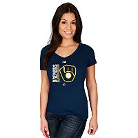 Women's Majestic Milwaukee Brewers AC Team Icon Tee