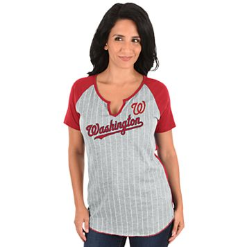 Women's Majestic Washington Nationals From the Stretch Tee