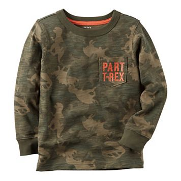 Toddler Boy Carter's Dinosaur Camouflage Pocket Tee
