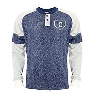 Men's Stitches Detroit Tigers Raglan Henley